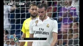 ملخص مباراة ريال مدريد ~ميلان 3-1 تألق بيل مباراة ودية 12/8/2018