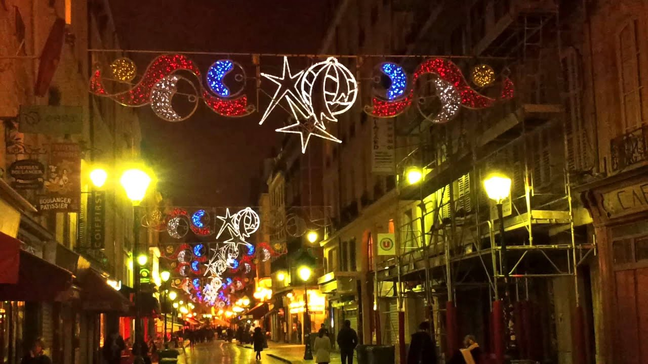 Illumination noel 2013 quartier montorgueil paris youtube - Illumination de paris ...