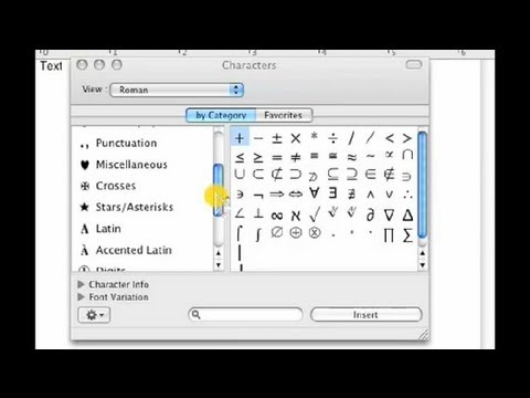 How to insert check mark on mac