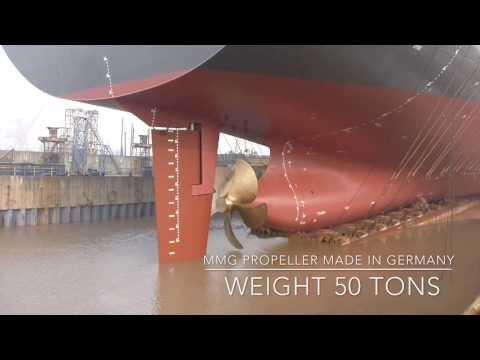 "Launching ""Hansa Australia"" 3600 TEU Container Ship @ Shanghai Shipyard"