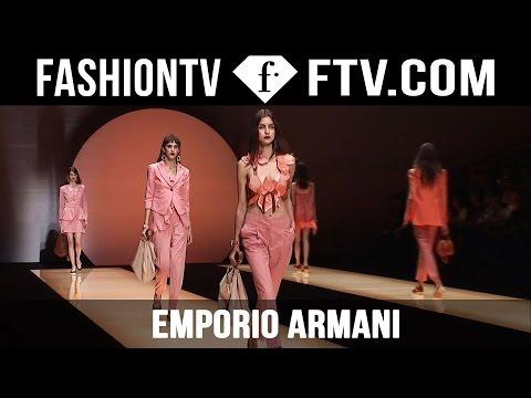 Emporio Armani Spring 2016 Collection at Milan Fashion Week | MFW | FTV.com