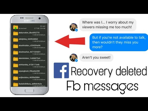 How To Recover Facebook Deleted Messages (100% Working )