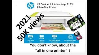 2018 HP DeskJet Ink Advantage 2135 All-in-one Printer Unboxing & Testing