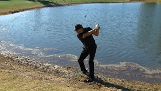 Phil Mickelson makes miraculous birdie from the mud