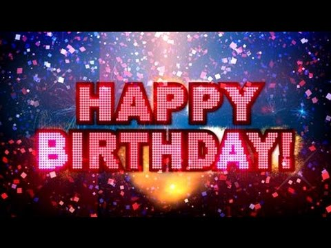 Happy Birthday Greeting Card With Fireworks YouTube – Virtual Cards Birthday