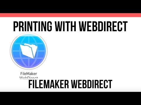 Printing with Webdirect | FileMaker Pro 16 Videos | Online FileMaker 16 Training Videos