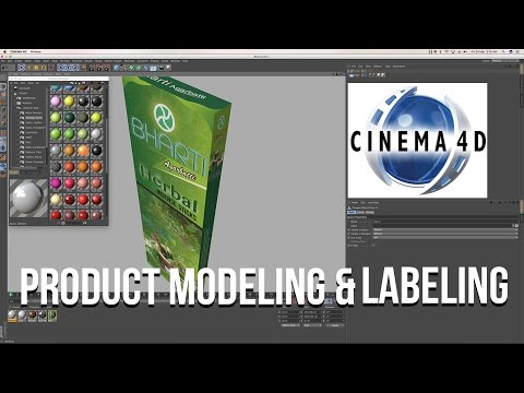 Product Modeling and Labeling  in C4D   Cinema 4D Tutorial