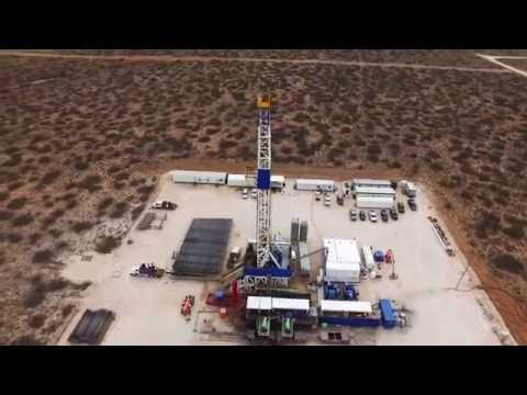 West Texas Drilling Rig - Midland Texas (Birds Eye view)