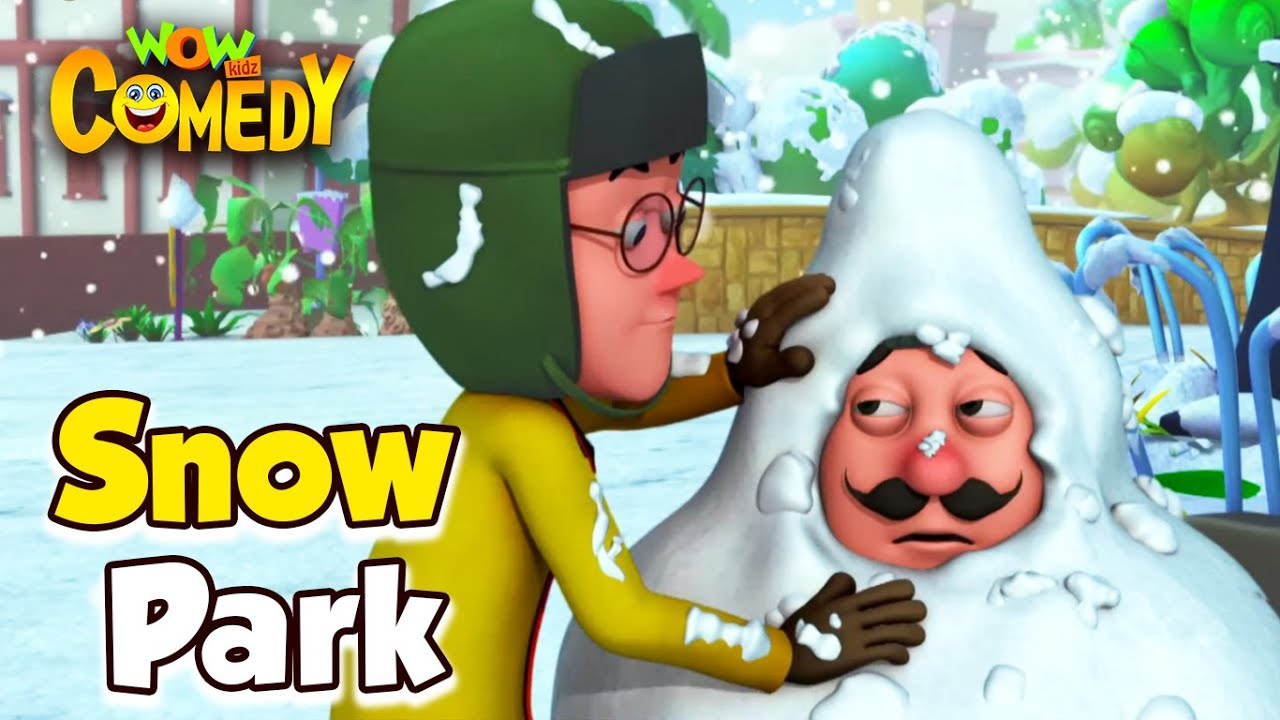 Motu Patlu- EP27A | Snow Park | Funny Videos For Kids | Wow Kidz Comedy