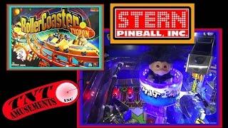 #1206 Stern ROLLER COASTER TYCOON Pinball Machine! TNT Amusements