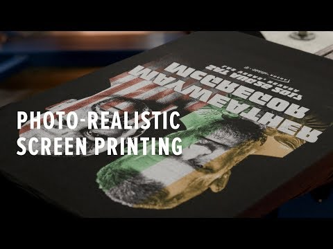How to Screen Print a Real Photo!