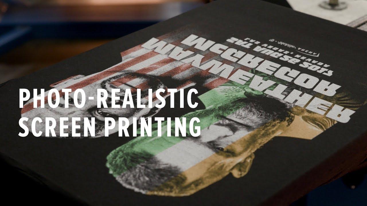 b0ebec54 How to Screen Print a Real Photo! - YouTube