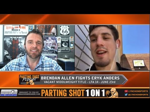 Brendan Allen talks LFA title fight June 23rd and training at Roufusport for this camp