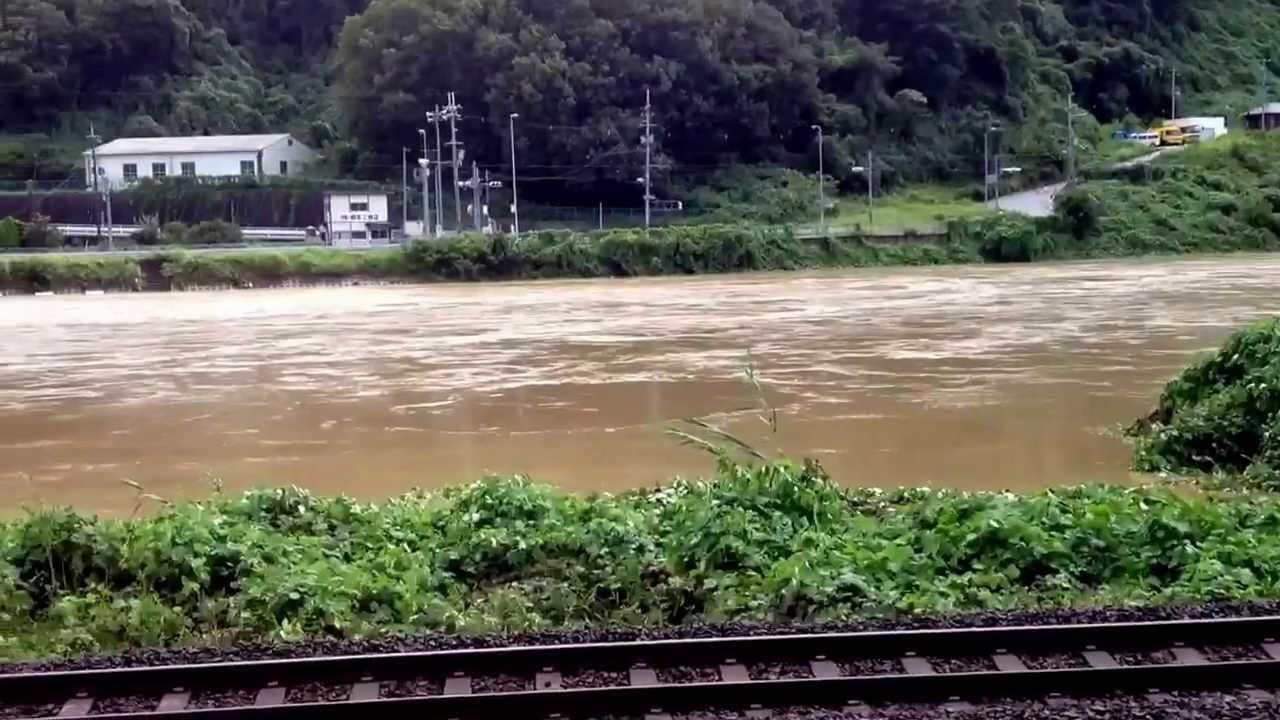 大和川、奈良県生駒郡三郷町 - YouTube