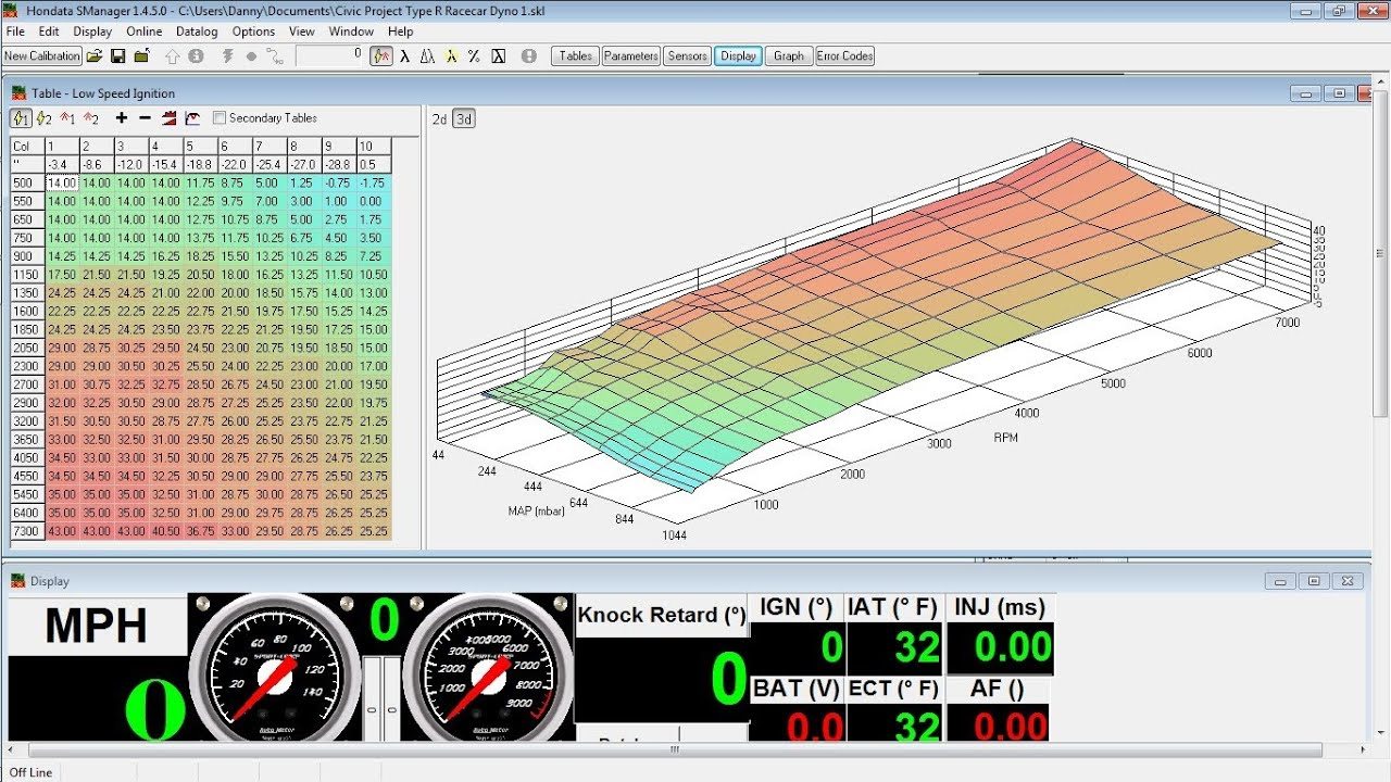 Tuned Hondata Map For A B16a2 10hp Gain Youtube