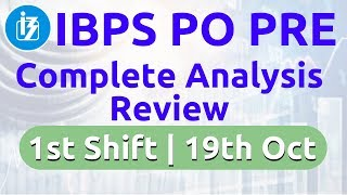 10:00 AM - IBPS PO Pre 2019 | 19 Oct, 1st Shift | Complete Exam Analysis Review