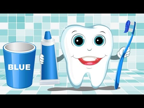 Learn Colors with Teeth Brush Baby Children Kids Learning Videos