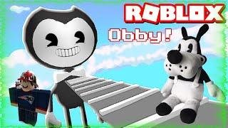 Boris Il Lupo fugge da Bendy Obby In Roblox!