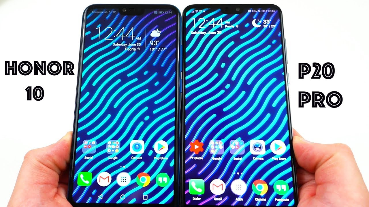 Huawei P20 Pro vs Honor 10 - important changes