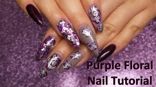 Clear Jelly Stamper Floral Nail Tutorial