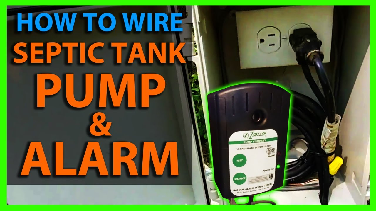 hight resolution of how to wire a septic tank pump alarm system