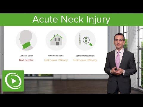 Acute Neck Injury – Family Medicine | Lecturio