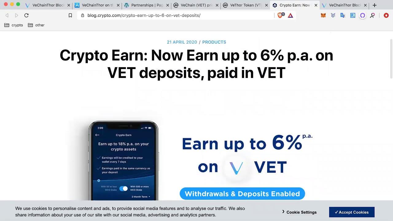 Earn 6% passive Income Vechain 22