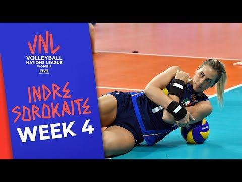 Brilliant Italy! Indre Sorokaite with 29 Points vs. Russia | Volleyball Nations League 2019