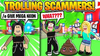 We Trolled a SCAMMER with *FAKE* TIKTOK HACKS! (Roblox Adopt Me)