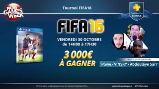 Tournoi FIFA 16 PlayStation Plus League @ PGW2015