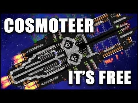COSMOTEER: First Look - The 100% Free Space Ship Building Strategy Game