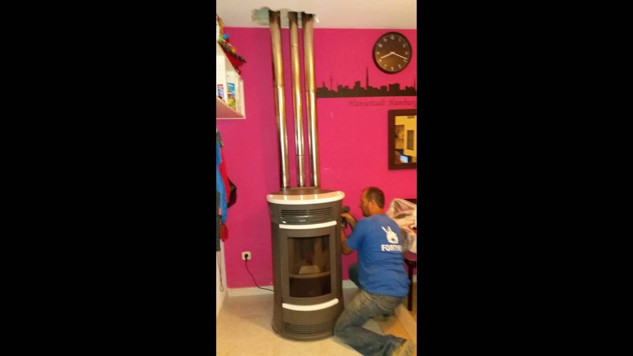 Instalacion estufa pellets canalizable funny edilkamin - Instalar una estufa de pellets ...
