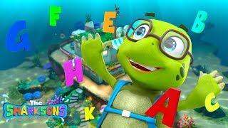 ABC Song - The Sharksons | Learning The Alphabet for Babies | Kids Songs
