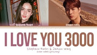 Gambar cover Stephanie Poetri & Jackson Wang - I Love You 3000 II (Lyrics)