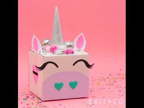 How To Diy A Unicorn Valentine S Box Youtube