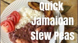 Quickest Way to Make Jamaican Stew Peas &amp Rice