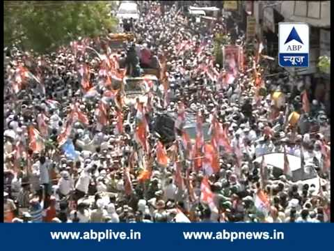 Crowds in Rahul Gandhi's Varanasi roadshow