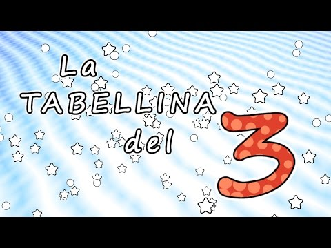 La tabellina del 3 - tabellina del tre - canzoni per bambini -  Baby cartoons