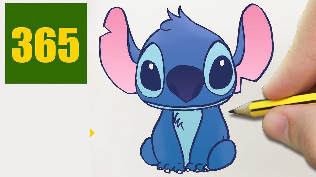 Hur man ritar stitch steg f r steg ritningar l tt youtube for Disegni facili da disegnare a matita