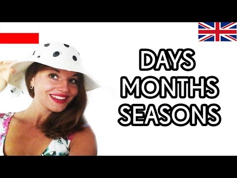🇵🇱🇬🇧Learn Polish #5 - POLISH DAYS OF THE WEEK/MONTHS/SEASONS - POLSKIE DNI TYGODNIA
