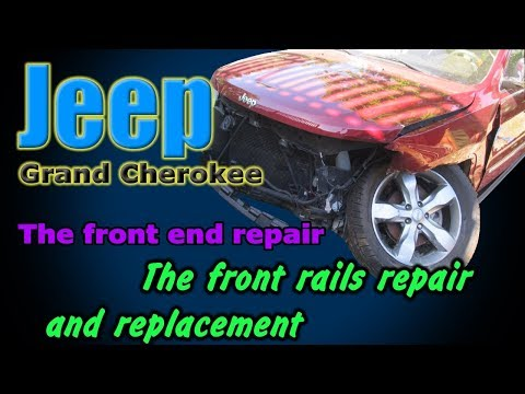 Jeep Grand Cherokee. The front end repair. Ремонт переда.