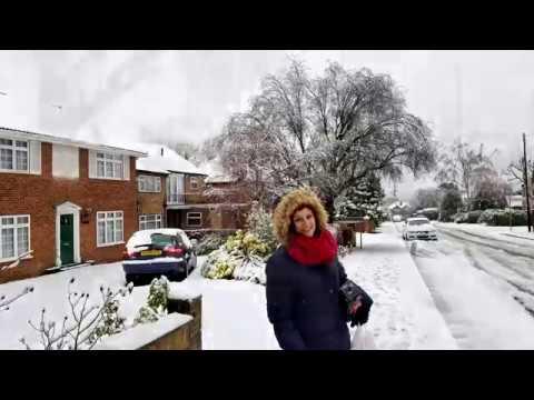 First Snow December 2017 - Uxbridge - London - UK
