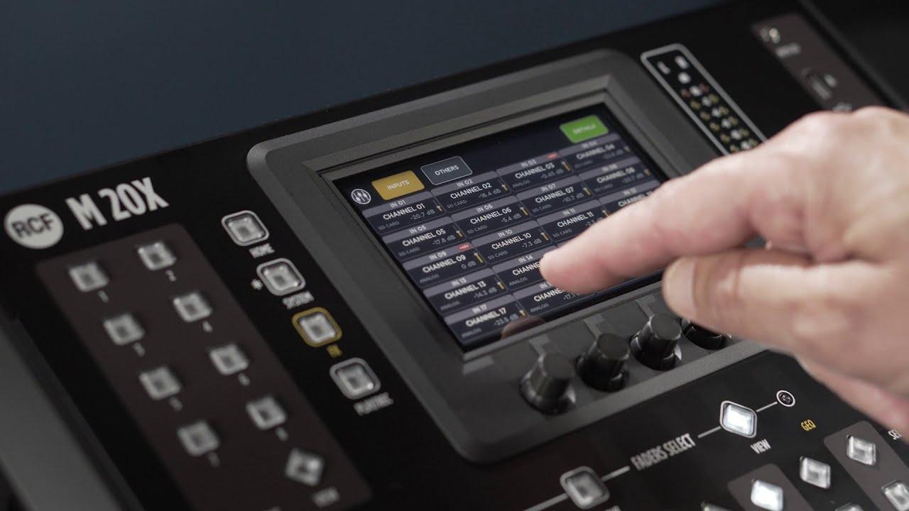 RCF M 20X - Consola Digital Empezando
