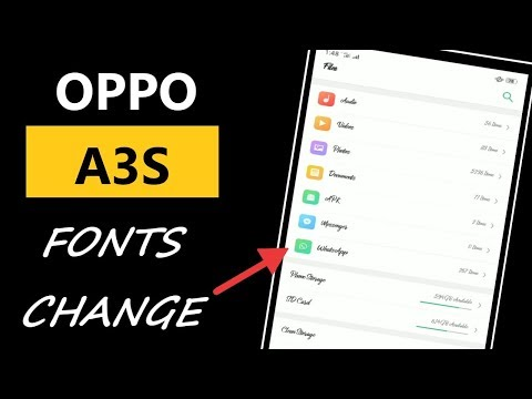 How To Change Fonts In Oppo A3s | Oppo A3s Font Changer