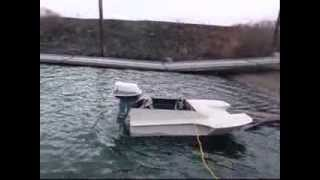 HOMEMADE MINI SPEED BOAT!!  Part 1:  Build and Tes