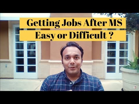 😱 Job Opportunities After MS in USA | Tips to get Full Time Job after Masters
