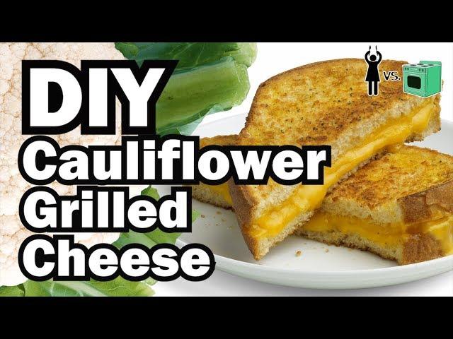 DIY Cauliflower Grilled Cheese, Corinne VS Cooking #17
