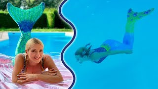 Mes Queues de Sirènes Girly dans la Piscine 🧜‍♀️ | Sophie Fantasy