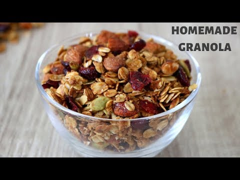 Homemade Granola | Weight loss healthy granola | Almond and Cranberry Granola