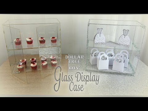 Glass Display Shelf / Dollar Tree DIY / Party Favor Display Shelf